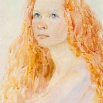 Portrait, 70x50 cm, watercolor
