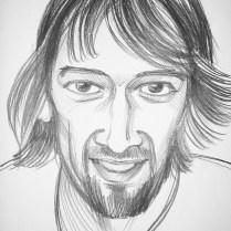 Portrait, 35x22 cm, pencil drawing