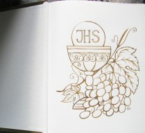 Book greetings, gold gel pen