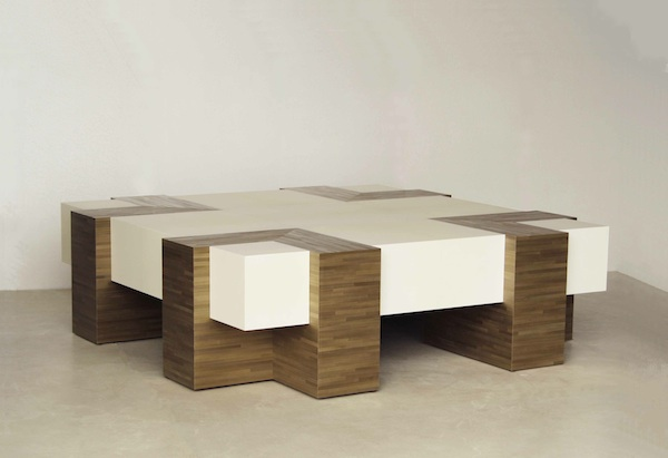 Jallu parchment and straw marquetry coffee table BG02 coffee table 600