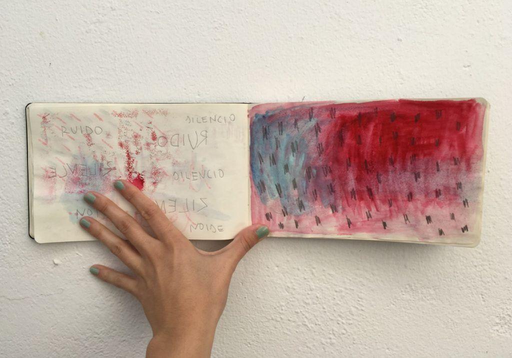 Virginia Rivas. Cuaderno de bocetos. 2016