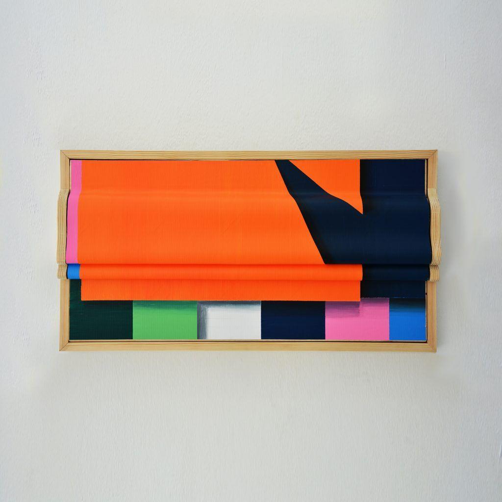 Miguel Ángel Cardenal. ½. Acrílico sobre lienzo plegado. 31x62cm. 2019
