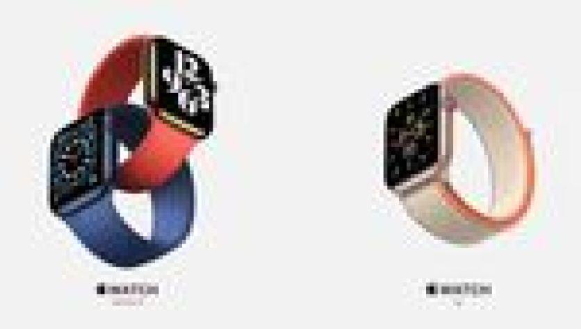 Los nuevos relojes de Apple, el Watch Series 6 y el Watch SE.