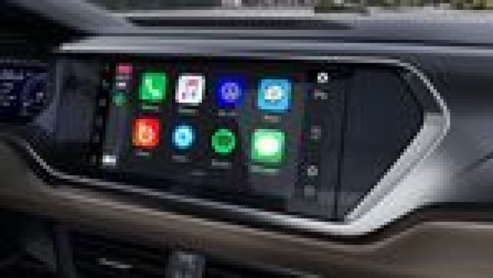 Taos contará con un sistema multimedia de 10 pulgadas. Foto: VW.