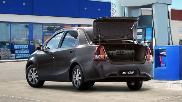 Hay dos versiones del sistema de GNC para el Etios Sedán, según la capacidad del cilindro. Foto: Toyota.