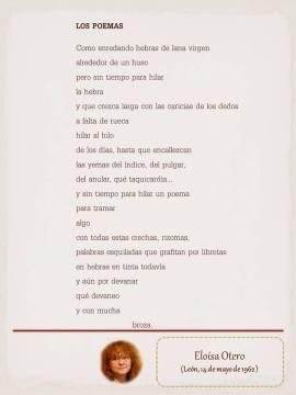 """Poema de Eloísa Otero, maquetado por Ángeles Rodríguez para el """"Tendedero"""" del Pasquín."""