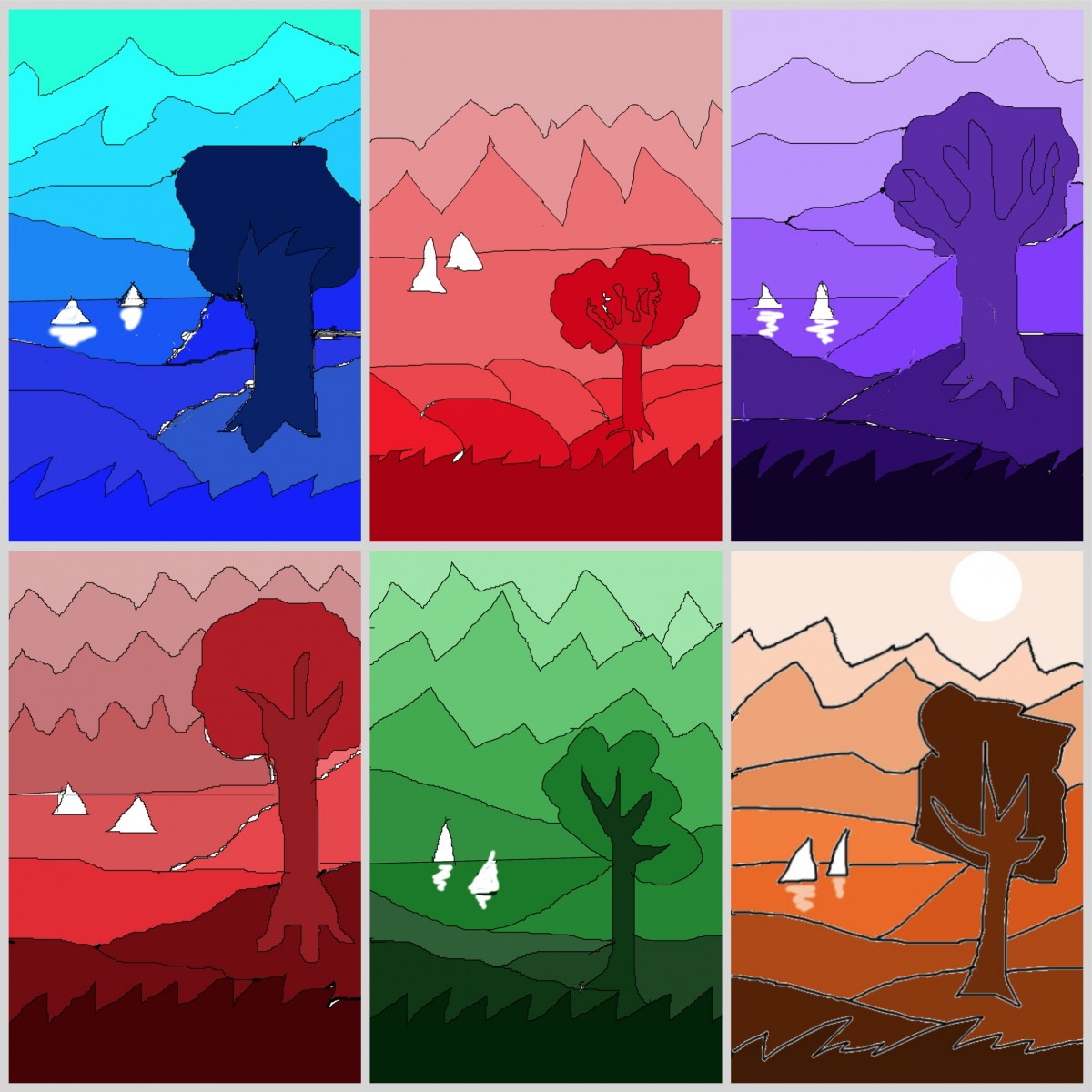 Landscapes In Gradation With Gimp2