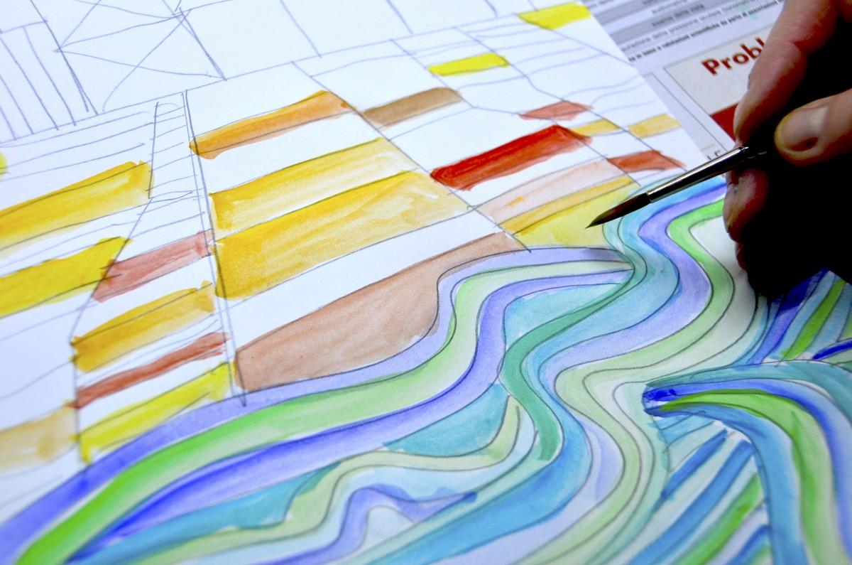 Paesaggi ad acquerello nello stile di Paul Klee