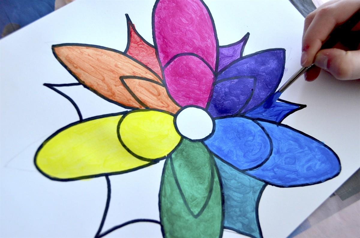 Il Cerchio Cromatico In Un Fiore