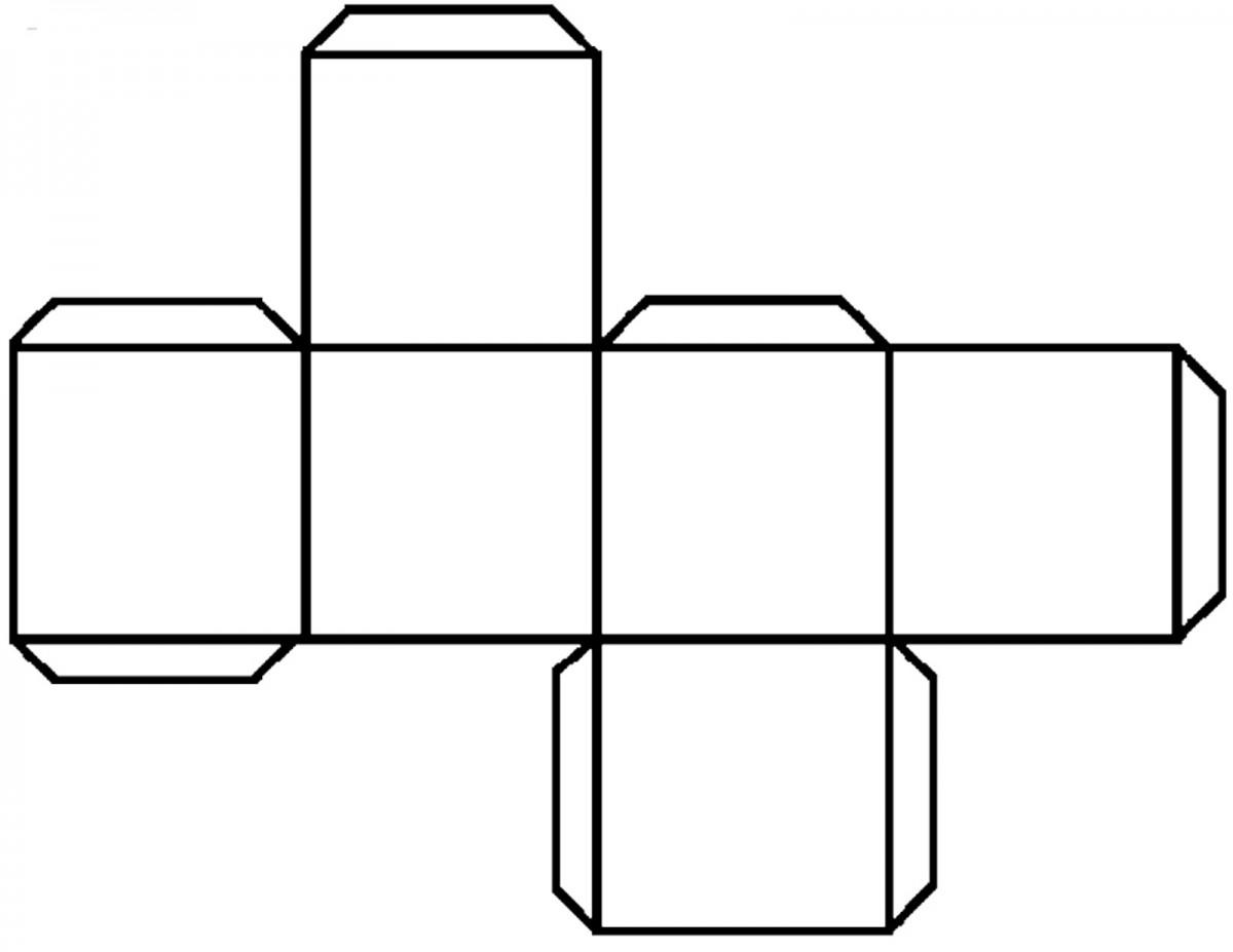 Cube Outline Worksheet