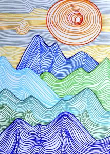 Mountains made up of lines