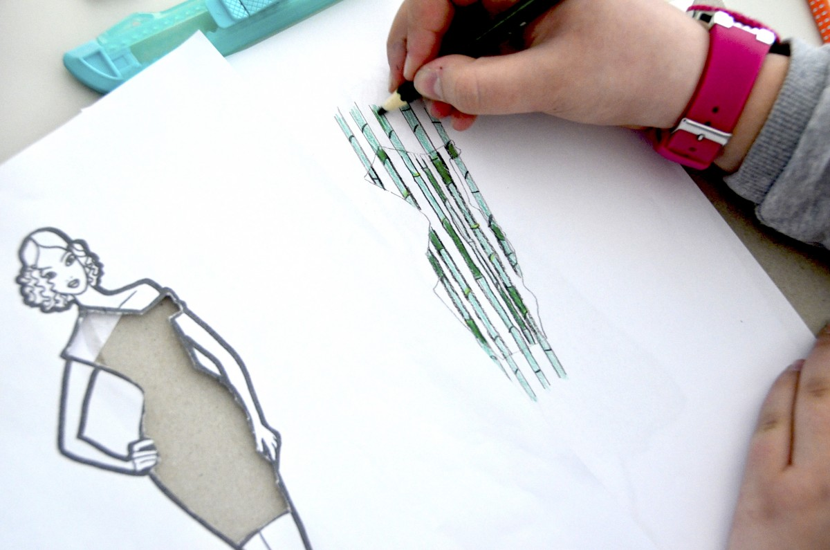 Drawing Natural Textures For A Gown