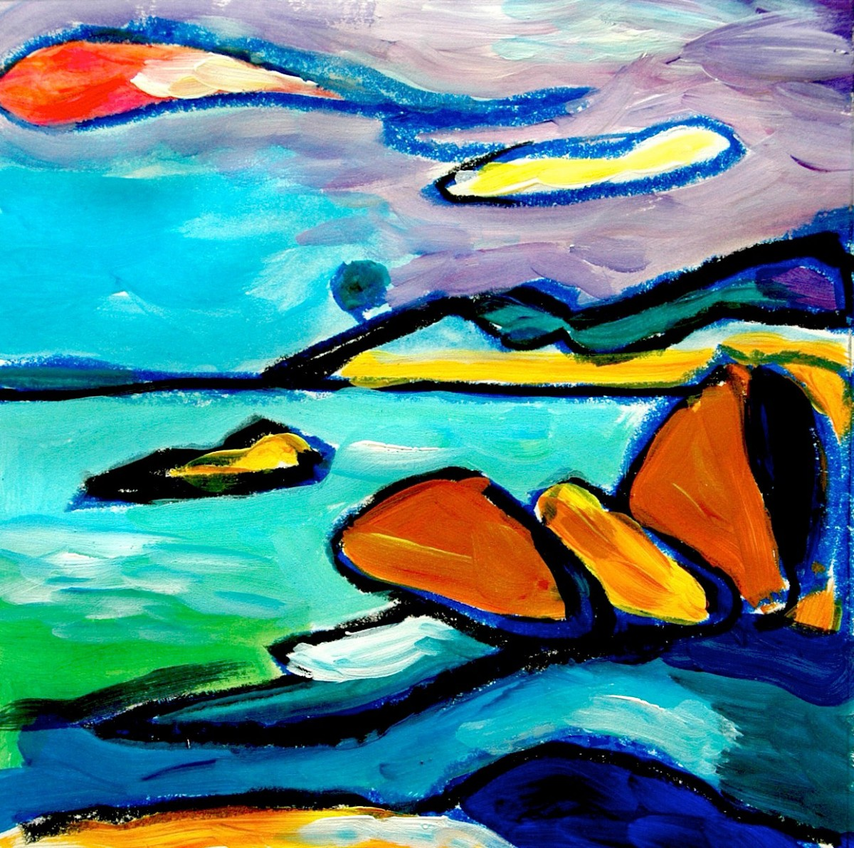 hight resolution of Inspired by the Kandinsky's landscapes