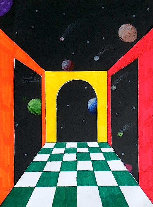 Prospettiva Surrealista nello spazio