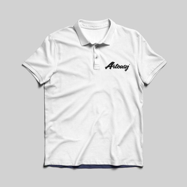Arteasy polo shirt white logo