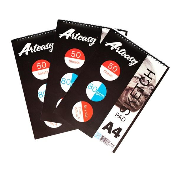Arteasy sketchpan A4 pack of 3