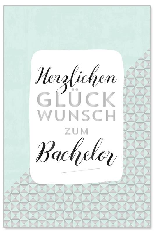 Karte Bachelor Glckwunsch
