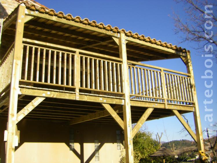 Terrasse Couverte Bois Et Tuiles