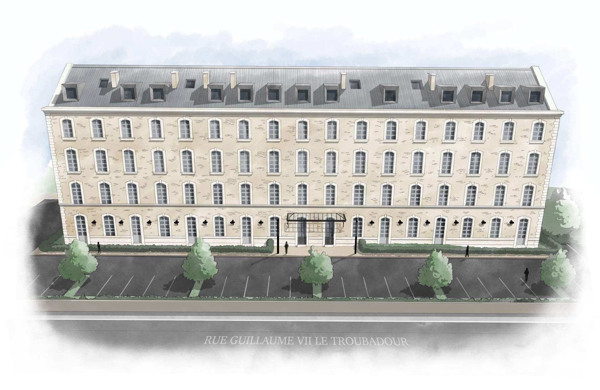 Poitiers-Transformation d'un bâtiment en 48 logements