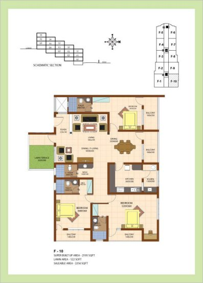 Artech Srirema, Trivandrum Layout : Plan-F10