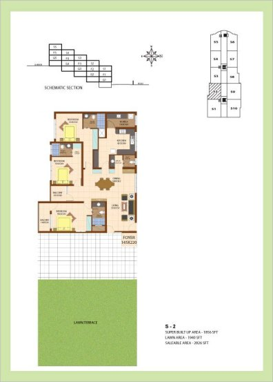 Artech Srirema, Trivandrum Layout : Plan-S2