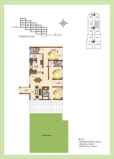 Artech Srirema, Trivandrum Layout : Plan-S7