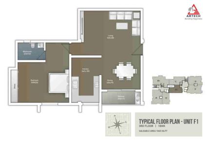 Artech Courtyard, Ambalamukku Layout Unit - F1