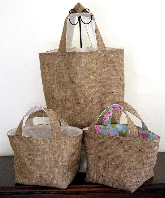 Bolsa De Juta E Tecido : Ecobags de juta forrada arte com tecidos