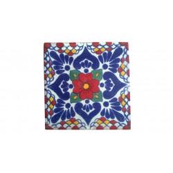 Azulejo en Forma de Talavera 2  Arte Cruz  Autentica Talavera