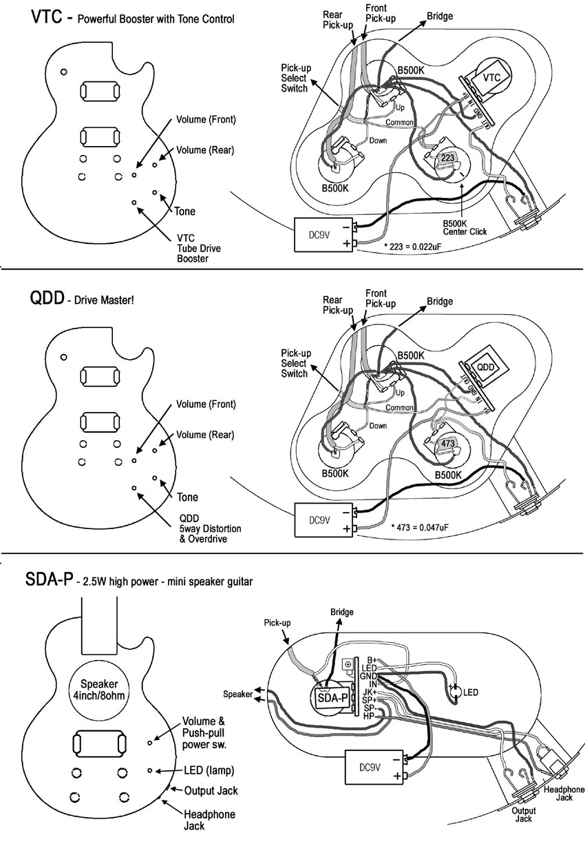 3 wire pickup wiring diagram spotlight 5 pin relay about artec sda p with speaker guitar