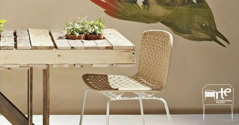 móveis de pallets mesa