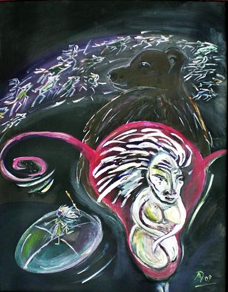 Percht - Alpenländische Göttin der Anderswelt, der Zwischenreiche, Seelenführerin, Göttin der Rauhnächte, Anführerin der Wilden Jagd