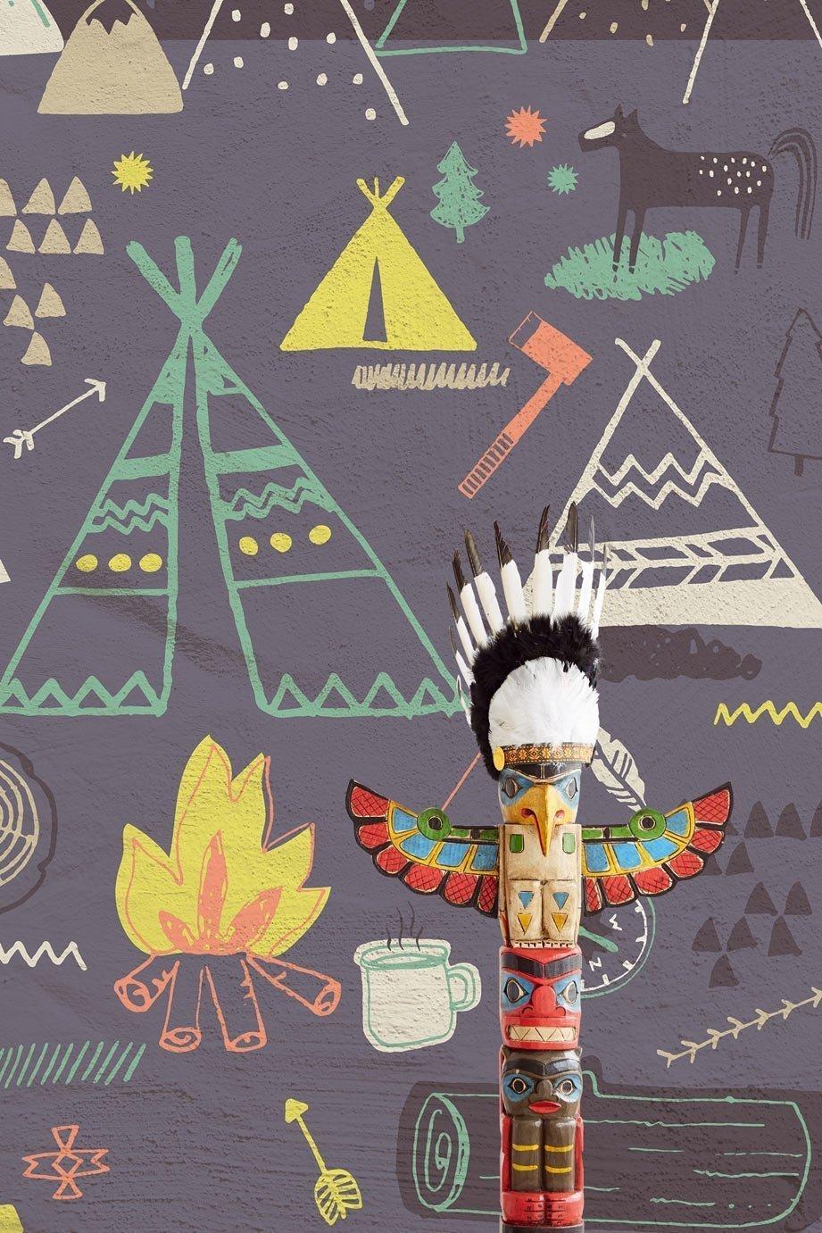 Dai un tocco di classe al tuo appartamento o alla tua attività commerciale. Carta Da Parati Eijffinger Indiani Arte Del Parato