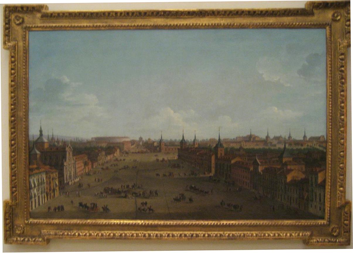 A. JOLI. Vista de la calle de Alcalá. Academia de Bellas Artes. (Foto hecha sin flash)