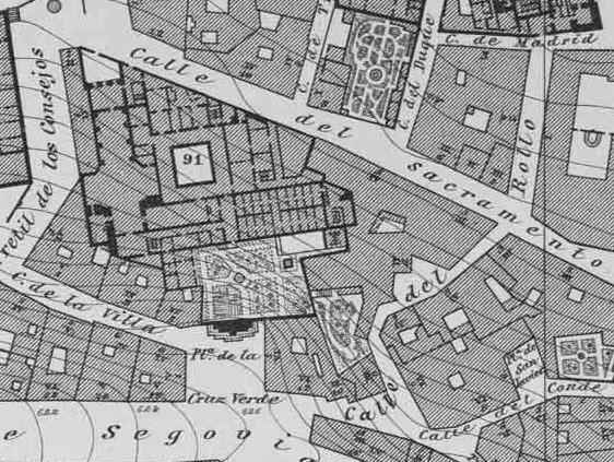Plano Ibáñez de Ibero. Hacia 1875.