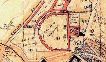 Plano de la Sacramental en el siglo XIX. Al norte la Sacramental de San Justo. www.madridhistorico.com