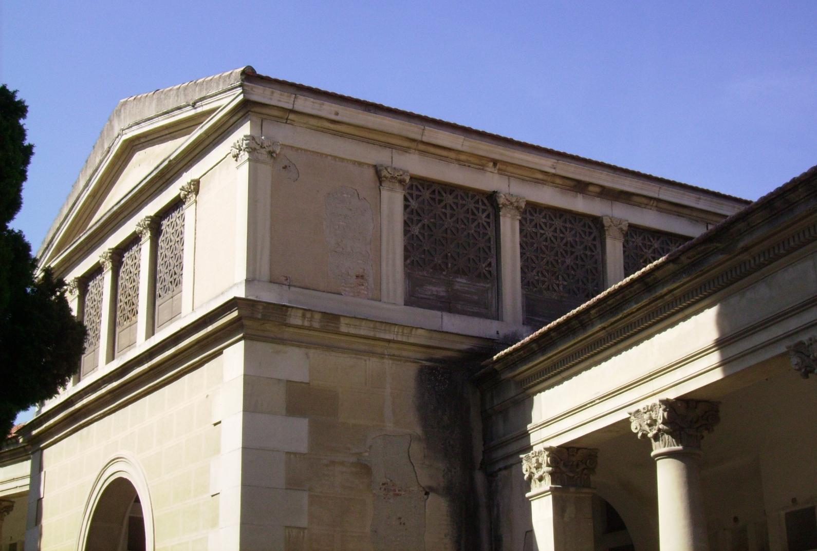 Detalle de uno de los pabellones