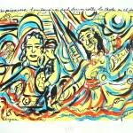 """Las Carpas, serigraph, 111/2""""x141/2"""" Coronado Studio,"""