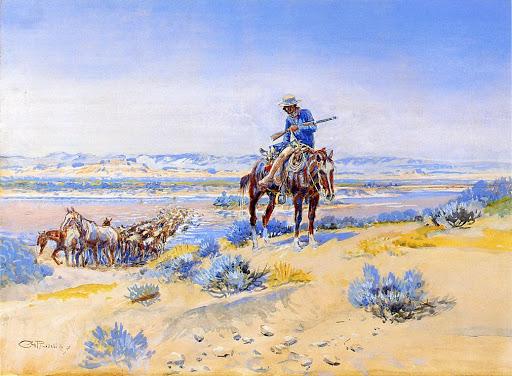 El Ateneo. Cambio de caballos (Charles Manion Russell)