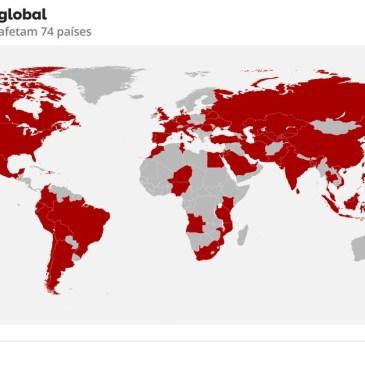 Ciberataques em larga escala atingem empresas no mundo e afetam Brasil
