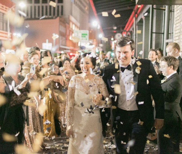 New Years Eve Wedding New Orleans Confetti Departure