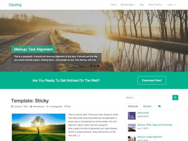 Template-Wordpress-Gratuito-Dazzling