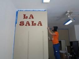 Creating 'La Sala', at GOLES, Fall 2014.
