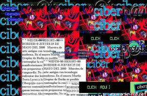 """La web de Ciberp@is deconstruida en 1999 por """"Riot"""" de Mark Napier"""
