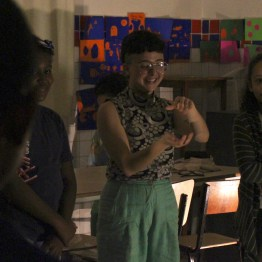 Encontro de Bruna Gonçalvez com estudantes do 4o ano