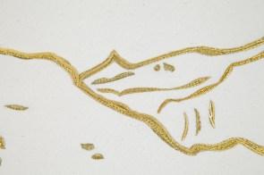 detail Golden Landscapes broderie or P.Cramer