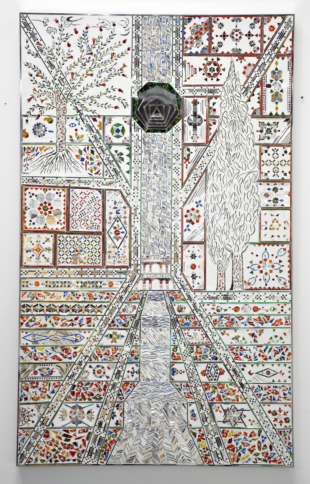 MSF_Shazdeh's Garden (2)_2010_mirror and reverse glass painting on plaster and wood_180 x 110 x 4 cm_1.jpg