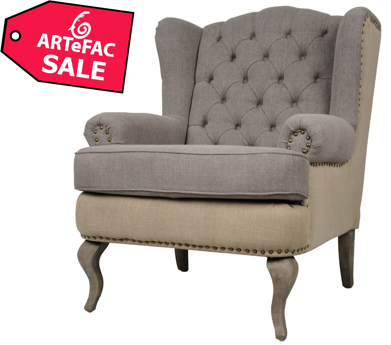 Wingback Tufted Chair Tufted Wingback Fabric Armchair