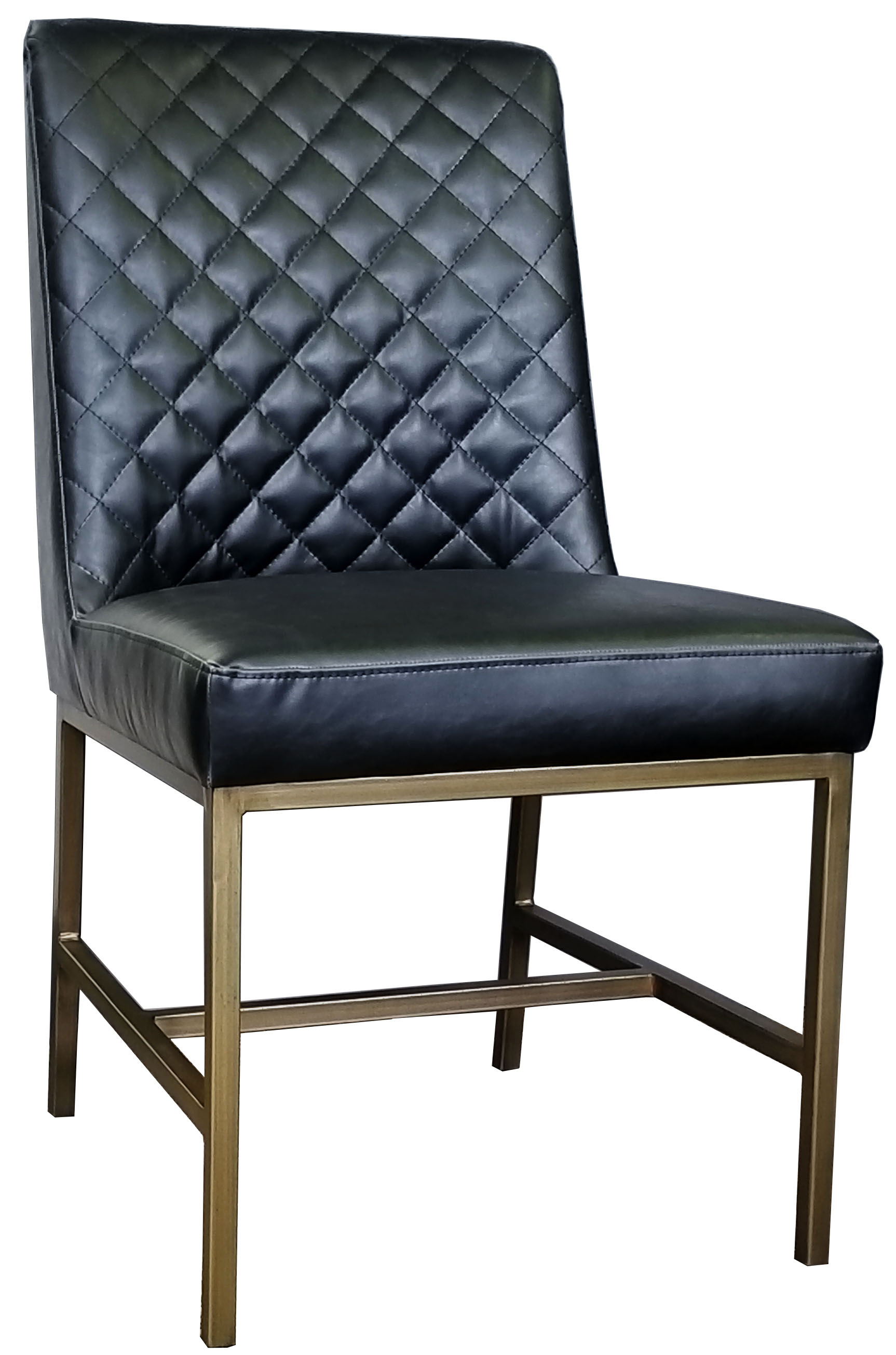 Black Leather Dining Chairs R 1317 Black Leather Dining Chair With Diamond Tufted Back