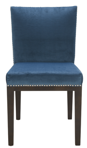 Leather Parson Dining Room Amp Kitchen Chairs SR 101232 Fabric Chair WSilver Nail Head Blue